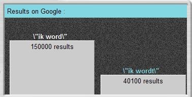 """Googlefight ïk wordt""""en """"ik wordt"""""""