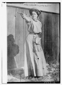 Vrouw met pistool