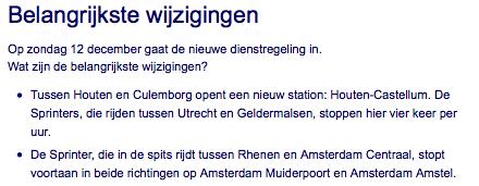 Het station opent... ?