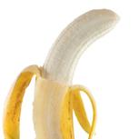 de banaan wordt uitgekleed