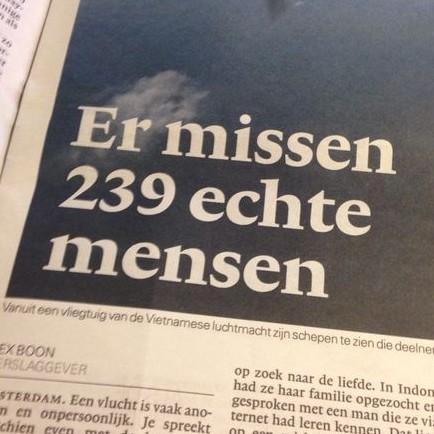 Er missen 239 echte mensen?